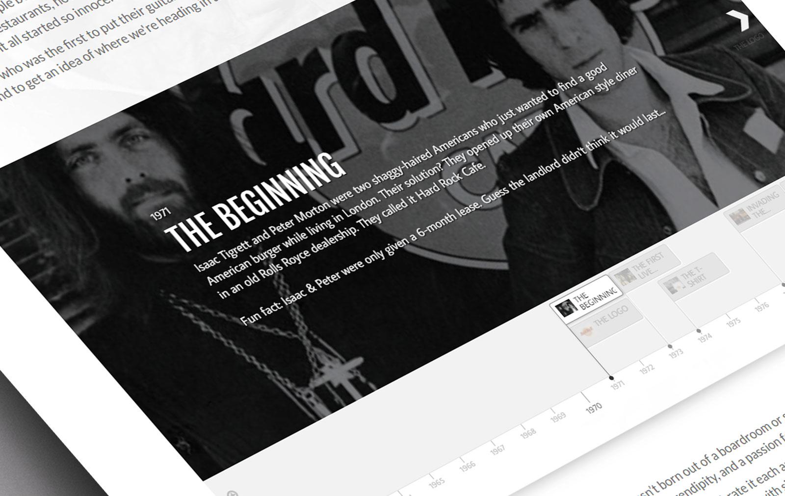 Hard Rock timeline