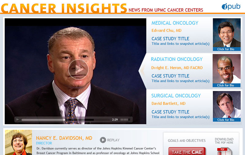 Cancer Insights landing page
